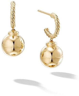 David Yurman 18kt yellow gold Solari hoop drop earrings