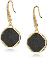 Laundry by Shelli Segal Leather Inlay Drop Earrings