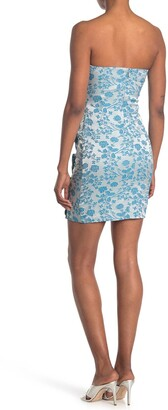 LIKELY Lora Floral Ruched Ruffled Mini Dress