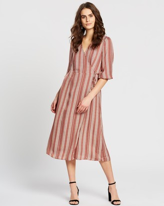 Vero Moda Juna Midi Wrap Dress