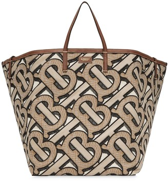 Burberry extra large Embroidered Monogram beach tote