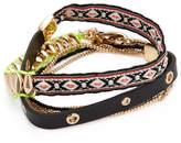 Rebecca Minkoff Women's Mixed Media Wrap Leather Bracelet