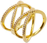 Noir Roseberry Gold-Tone Crystal Ring