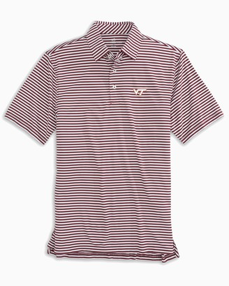 Southern Tide Virginia Tech Hokies Striped Polo Shirt