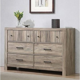 Union Rustic Enid Stormy 6 Drawer Double Dresser