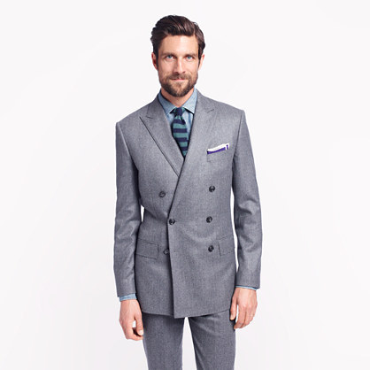 Ludlow double-breasted sportcoat with double vent in Italian wool flannel