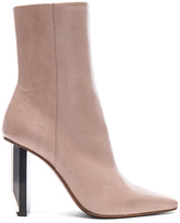 Vetements Reflector Heel Leather Ankle Boots in Neutrals.