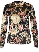 Hallhuber Velvet long sleeve with floral print