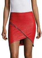 RtA Ivy Leather Short Skirt
