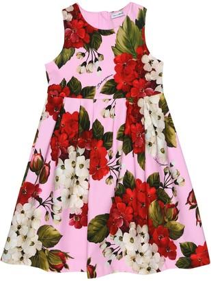 Dolce & Gabbana Floral stretch-cotton dress