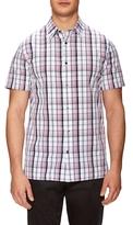 Vince Plaid Woven Short Sleeve Sportshirt