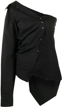 Marques Almeida Marques'Almeida asymmetric poplin shirt