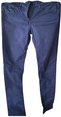 Napapijri Blue Cotton Trousers for Women