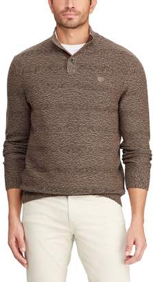 Chaps Big & Tall Textured Button Mock Sweater