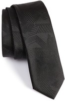 BOSS Men's Solid Abstract Weave Tie