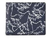 Michael Kors Harrison Palm Print Leather Slim Billfold