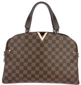 Louis Vuitton 2016 Damier Ebene Kensington Bowling Satchel