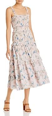 Saylor Althea Floral Print Tiered Dress