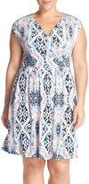 Tart Valentia Surplice Jersey Dress (Plus Size)