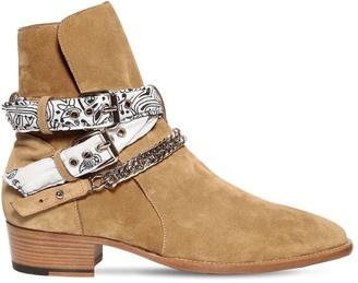 Amiri White Bandana Buckle Boot