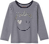 Joe Fresh Toddler Girls' Glitter Tee, Navy (Size 3)