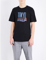 Stussy Vacation graphic-print cotton-jersey t-shirt