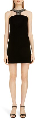 Givenchy Embellished Halter Cocktail Minidress