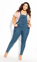 City Chic Overall Skinny Jean - denim
