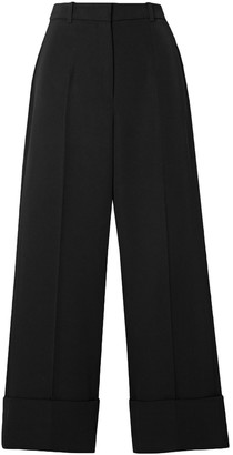 Michael Kors Collection Cropped Wool-twill Straight-leg Pants