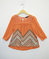 Takara Orange Print Top - Girls