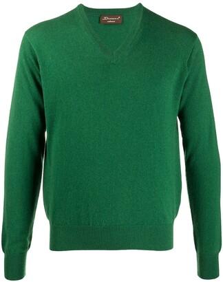 Doriani Cashmere V-neck ribbed knit jumper