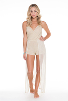 Luli Fama Golden Sugar Wandress Romper In Gold Rush (L529861)