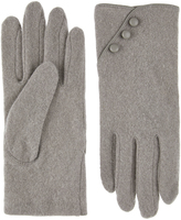 Accessorize Wool Glove with Buttons
