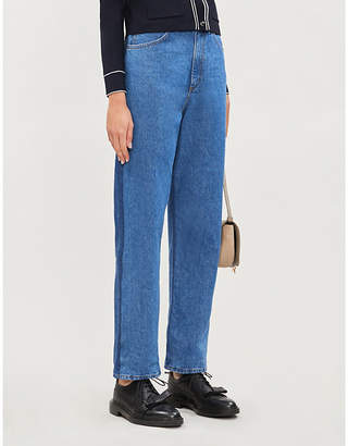 Sandro Faded-wash straight mid-rise jeans