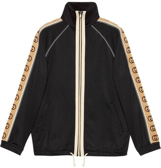 Gucci GG print trim zipped jacket