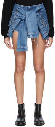 Alexander Wang Blue Denim Jacket Shorts