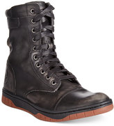 Diesel Men's Tatradium Basket Butch Zip Leather Boots