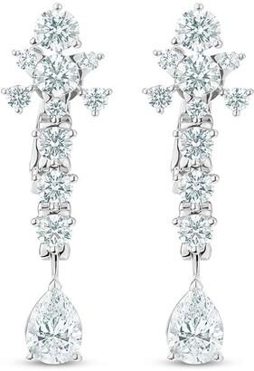 De Beers platinum Lea diamond earrings