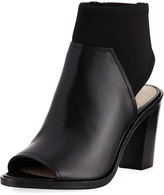 Donald J Pliner Kleo Open-Toe Leather Bootie, Black