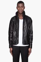 Diesel Black leather hooded Literal Jacket