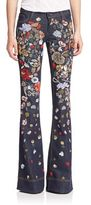 Alice + Olivia Ryley Embellished Flared Jeans