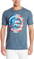 Marvel Men's Captain America Shield American Flag Short Sleeve Graphic T-Shirt