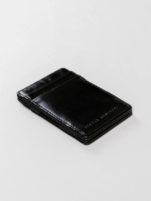 Status Anxiety Leather Flip Wallet in Black