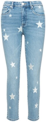 Blank NYC Madison Star Embroidered High Waist Crop Skinny Jeans
