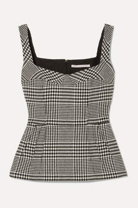 Emilia Wickstead Judy Houndstooth Wool-blend Top - Dark gray