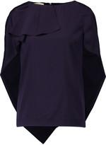 Antonio Berardi Layered silk-blend satin top