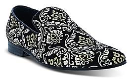Robert Graham Men's Gibbons Damask Embroidered Slip On Dress Shoes