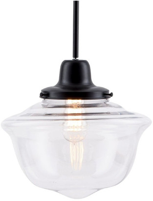 Linea Di Liara Lavagna Pendant Light with Bulb, Black