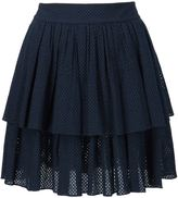 Sophie Theallet shirred eyelet layered skirt - women - Cotton - 6