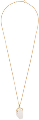Kwaidan Editions Gold and Off-White Pearls Before Swine Edition Fist Charm Necklace
